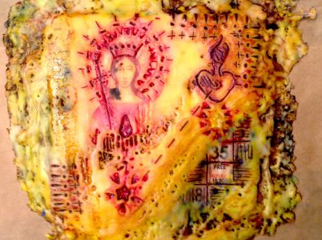 encuastic wax religious figure