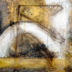 encaustic painting and mixed media